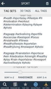 Sport Hashtags